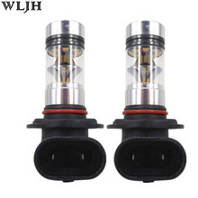 WLJH 2X 100W 1000lm Led H7 H8 9005 9006 5202 1156 1157 7440 7443 H16 P13W PSX24W PSX26W Car Auto Fog Lamp Driving Light Bulbs