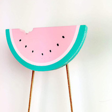 Nordic Pineapple/Dog/Coconut Tree/Watermelon Wooden Clothes Hook for Kids Room Wall Decorate Children Room Photography props(China)