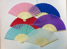 Chinese White Silk Hand Held Folding Fans Wedding Christmas Birthday Party Favor  Decorative Fan Wholesale 200pcs