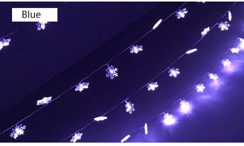 10M 100Leds 2V Christmas Tree Snow Flakes Led String Fairy Light Xmas Party Home Wedding Garden Garland Christmas Decorations 2
