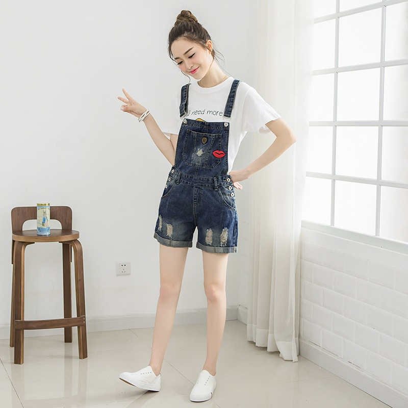 Summer fashion plus size bib denim rompers women short jumpsuit jeans for women jean overalls denim clothing women Одежда и ак�е��уары<br><br><br>Aliexpress