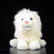 18 cm Lifelike White Lion Plush Toys Simulation Lion Plush Dolls Stuffed Wild Animal Toys Christmas Gifts For Kids(China)