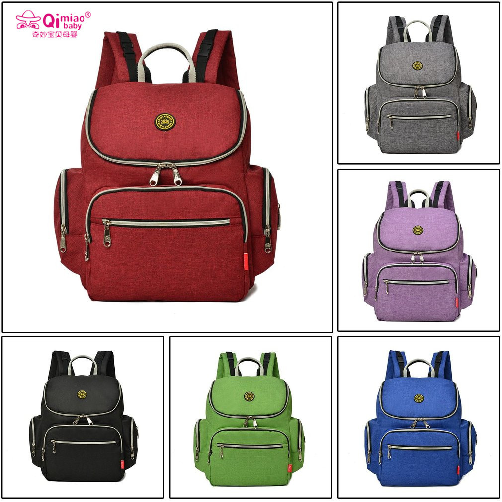 QIMIAOBABY diaper bag backpack large capacity waterproof multifunction diaper nappy bag for baby care maternal bags for stroller<br>