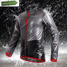 WOSAWE Outdoor Sports Waterproof Windproof Rain Cycling Bike Bicycle Running Jacket Coat Jersey Superlight Gray/ Blue/ Green