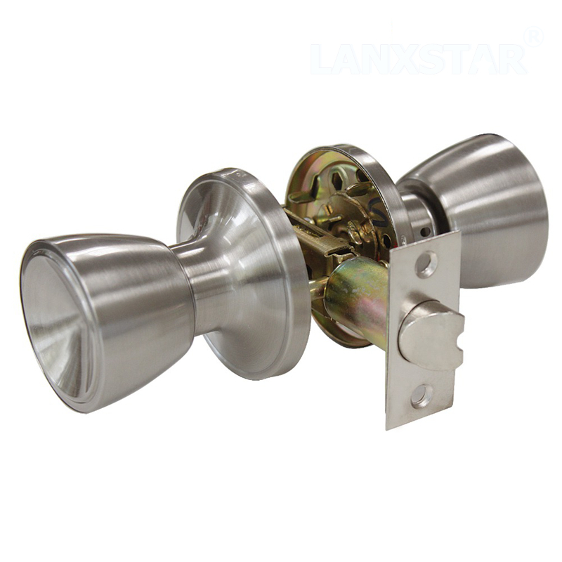 New Tulip Style Passage Keyless Door Lock Stainless Steel Satin Nickel Door Knobs Door Handles-lock Interior Door-locks<br><br>Aliexpress