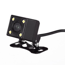 Night Vision 4 Led Lamps Reverse Camera HD CDD Rear View Camara Lens For Car Dvr Mirror Recorders(China)