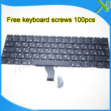 "Brand New RU Russian keyboard+100pcs keyboard screws For MacBook Air 11.6"" A1370 A1465 2010-2015 Years"