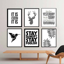 Modern Nordic Deer Posters and Prints Canvas Wall Art Pictures POP Art Oil Painting for Living Room Wall Home Decor no frame