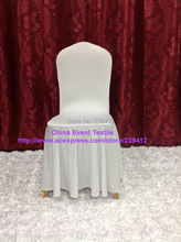 50pcs White Quality Large Skirting Banquet Chair Cover,Lycra Chair Cover for Wedding Events&Party Decoration(China)