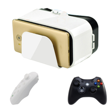 VR Box 3D Headset Virtual Reality Glasses/Goggles with Controllers Googles Cardboard 3D Glasses For Smartphone 4.5-6.6 inch(China)