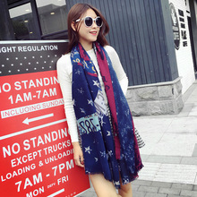 Autumn new star printed scarves Oversized super soft scarves Fashion Cotton Women Scarf