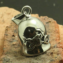 Factory Price Mens Boys 316L Stainless Polishing Silver Jingle Bell Cool Motorcycle Biker Newest Pendant(China)
