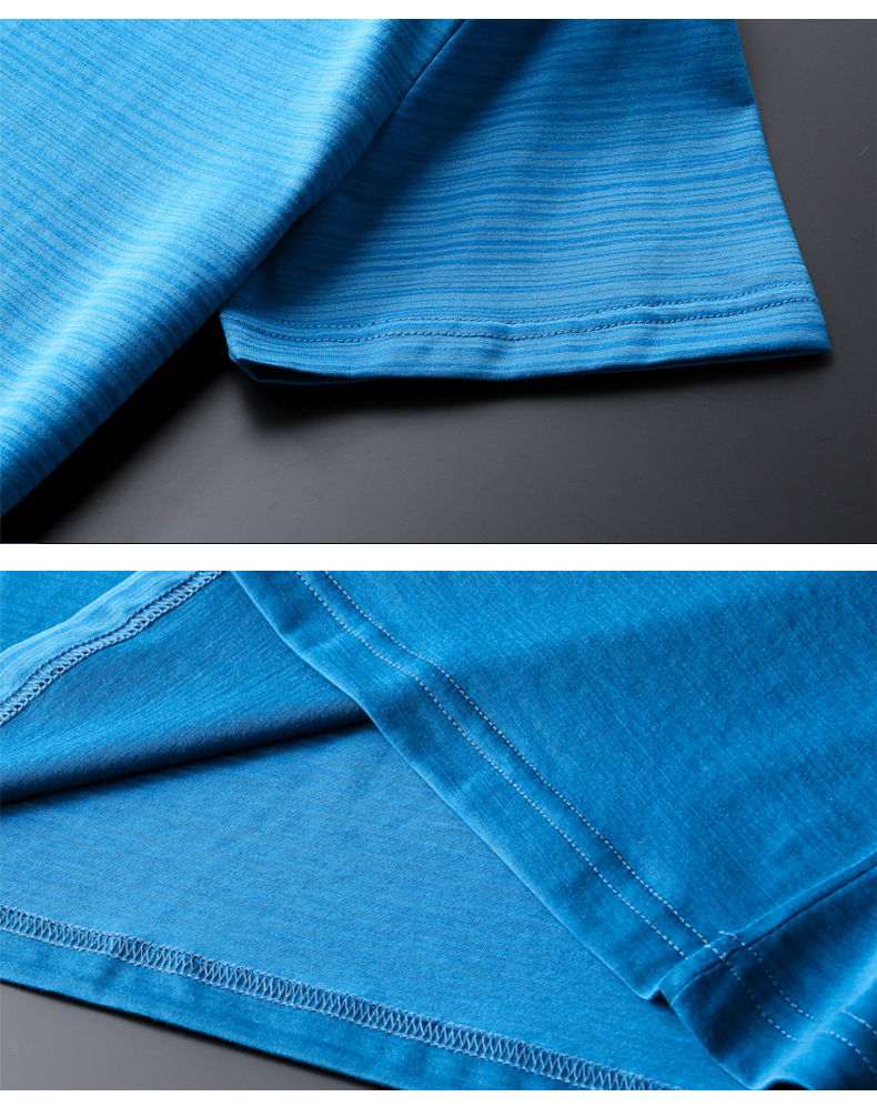 Male short-sleeve Cool T-shirt Men gulps half mercerized cotton trend O collar slim summer ice silk Fashion Blank Black T shirts (8)