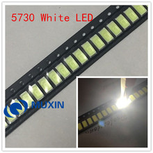 100pcs SMD LED 5730 5630 Chip 50-55LM 0.5W Cool White 10000K LED 0.5 W Light Emitting Diode Lamp High Brightness SMT Beads