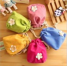 Storage Set Vacuum Bag Lovely Flowers Pull Type Pocket Candy Color Small Debris Consolidation Package Travel JJ0004