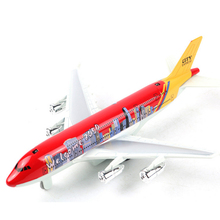 Air Plane Model Universal Airbus Plane Model Flashing Sound Electric Airplane Toys Gifts For Boys Children
