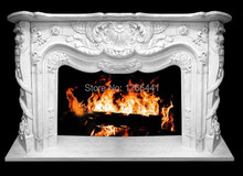 natural stone marble fireplace mantel customizing luxurious European Baroque style(China)