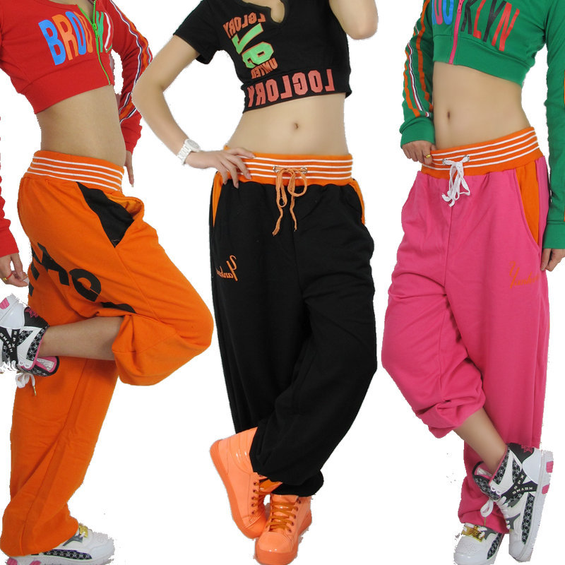 New fashion Brand Women Hip hop trousers dance wear sweatpants ds costume casual Letter harem loose casual pants