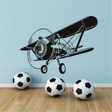 Creative Art Design Airplane Wall Decals Stickers For Kids Room Decoration Removable High Quality DIY Sticker Wall Decor(China)