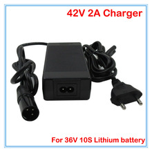 36V 2A Li-ion battery charger Output 42V 2A XLRM Port Input 100-240VAC 36V Charger Used for 36V 10S lithium battery pack