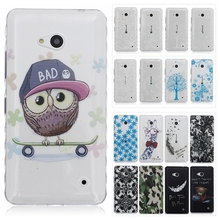 3D Soft TPU Case for Microsoft Nokia Lumia 640 N640 Transparent Silicon Back Cover Cute Bear Giraffe Flower Phone Cases