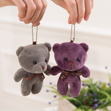 10CM mini Plush Stuffed Bear Doll Toy Joint Bear Wedding Bouquet kids Keychain Pendant for key bag decoration animal Plush doll