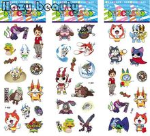 10pcs Lovely Yokai watch Cartoon PVC sticker 21.5*7.5cm 3 stylesYo-kai watch Bubble stickers kids cartoon toy