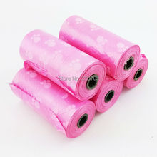 3 Rolls/Lot  Pet Dog Biodegradable Waste Pooper Scoopers Bags on Board ,Dog waste bags,Carbage bags,Color PINK,Free shipping