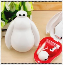 LIUSVENTINA cute bigwhite  contact lens case lenses container box