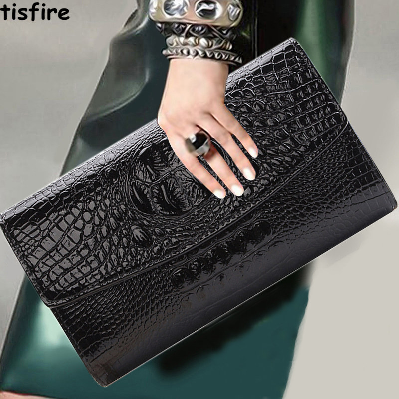 Hand bag female fashion handbag crocodile Handbag Shoulder Messenger Bag ladies evening bag chain Korean tide(China (Mainland))