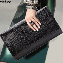 Hand bag female fashion handbag crocodile Handbag Shoulder Messenger Bag ladies evening bag chain Korean tide(China)