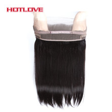 HOTLOVE Hair 360 Lace Frontal Closure Straight 22*4*2 Band Frontal Natural Hairline 100% Remy Human Hair Pre Plucked Baby Hair