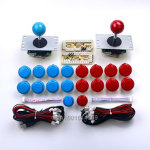 2 x Sanwa Joystick & 18pcs Arcade Buttons & Encoder Board For Arcade Sticks USB Connector Street Fighters Joystick Consoles Game