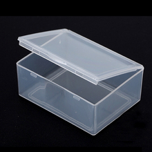 New 5 Pcs/lot Clear Plastic Transparent Store With Lid Storage Box Collection Coin Jewelry Container Case Wholesale