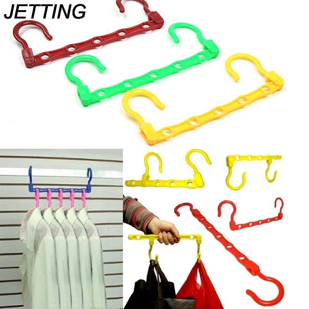 1Pcs Clothes Space Saver Useful 5-Hole Space Saver Wonder Magic Hanger Hook Closet Organizer Promotion