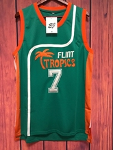EJ Movie Basketball Jersey Coffee Black #7 Flint Tropics Men Semi Pro all stitched WHITE GREEN