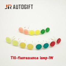 100pcs Car-Styling External LED T10 COB W5W 12V Wedge Door Instrument Side Bulb Lamp Car Light White/Blue//red/yellow/green(China)