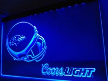 LD452- Baltimore Ravens Helmet coors LED Neon Light Sign   home decor  crafts