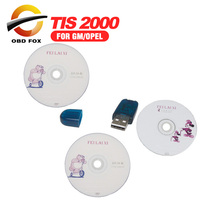 TIS2000 CD and USB KEY for GM TECH2 for GM and for Opel for GM TIS2000 TIS 2000 Software USB dongle Free shipping