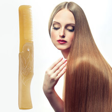 Fashion Handmade Natural Horn Comb Antistatic Ox Horn Combs Folding Hair Style Brush Beauty Barber Accessories Beauty & Health