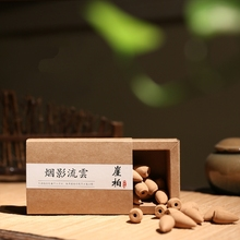 Handmade Natural Backflow Agarwood Incense Laoshan Sandalwood Cones Incense Soothe The Nerves Sleep Aids Wormwood Tower Incense(China)