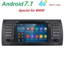 car radio DVD Android 7.1  For BMW E39 E53 M5(1996-2007) with WIFI Bluetooth Phonelink BT 1080P Ipod Map microphone