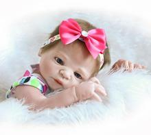 55cm Full Silicone Reborn Baby Doll Toys Simulation NPKCOLLECTION Victoria Baby Reborn Girl Baby Doll Girl Brinquedos Bathe Toy