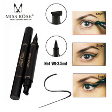 Makeup Liquid Eyeliner Pencil Quick Dry Waterproof Eye Liner Black Color With Stamp Beauty Eye Pencil(China)