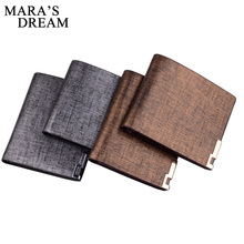 Mara's Dream Men Wallet PU Leather Purse Two Fold Wallets For Man High Quality Big Capacity Credit Crad Holders Money Bag Cheap