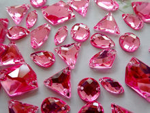 200pcs Mixed loading shape pink Sew on rhinestones Acryl crystal flatback  strass diamond hand sewing aac590924f1f