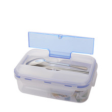 1000ml Bento Box 3 Cell Portable Food Containers Microwave Lunch Bento Box with Soup Bowl LunchBox Eco-Friendly