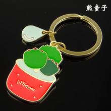 New Design Cool Creative Succulents Bonsai Keychain Car Key Chain Key Ring plant Keychain For Man Women Gift wholesale YS00188