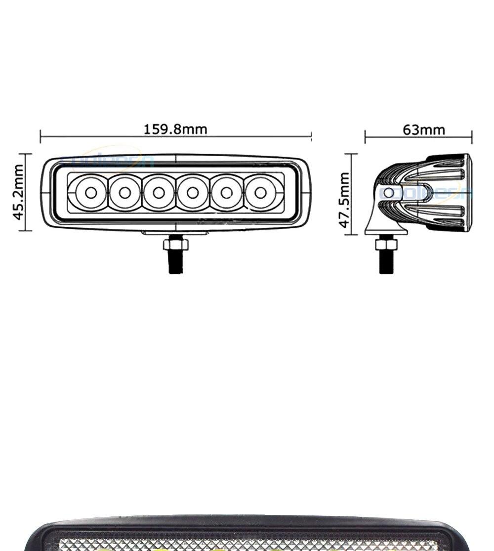 12V 24V Auto LED Light 18W Car Work Lamp Boat Vehicle Top Head Bulb 2000LM IP67 Waterproof Flood Beam Lighting Spot Lights (1)