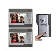 ZHUDELE Home CCTV 7 Inch Color TFT LCD Video Doorphone Door Bell Intercom IR Outdoor Camera 1camera+2monitors(China)